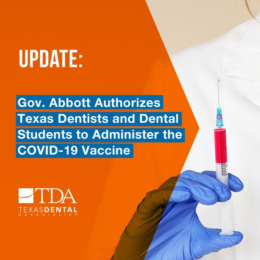 TX Dentists Can Administer Vaccine